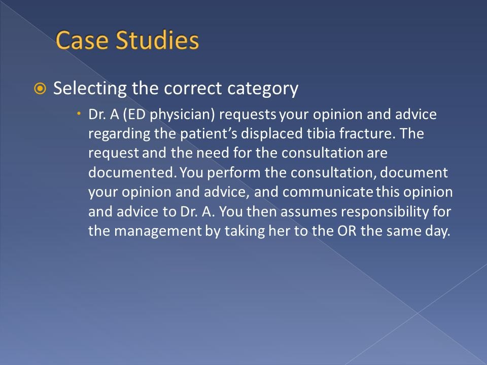 Selecting the correct category  Dr.