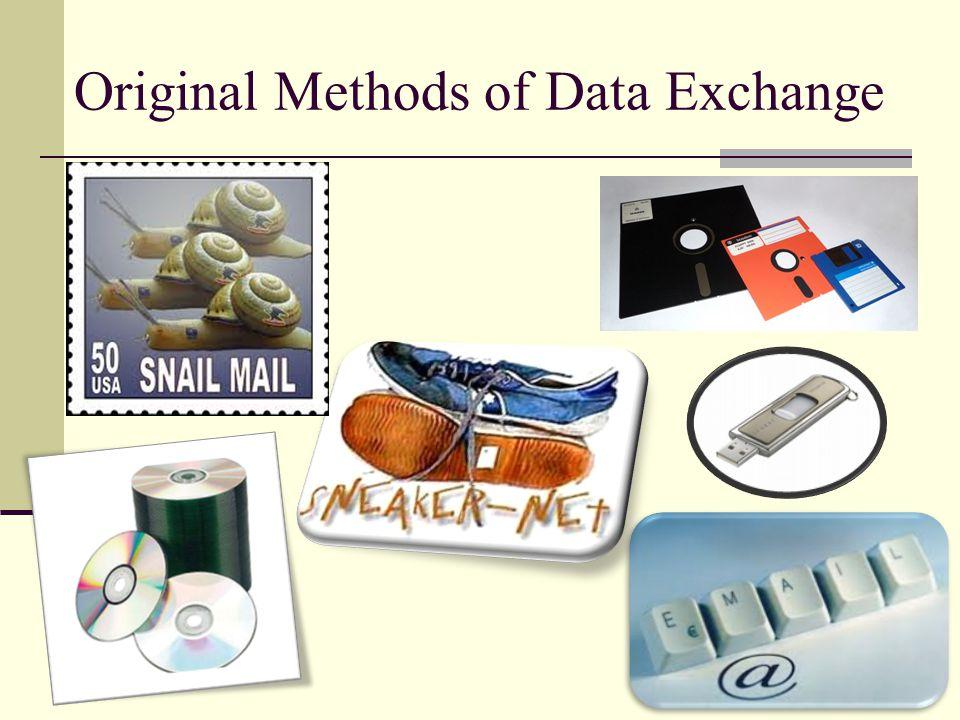 Original Methods of Data Exchange