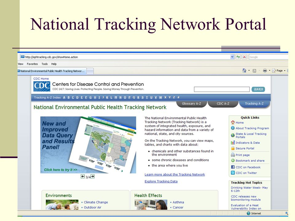 National Tracking Network Portal