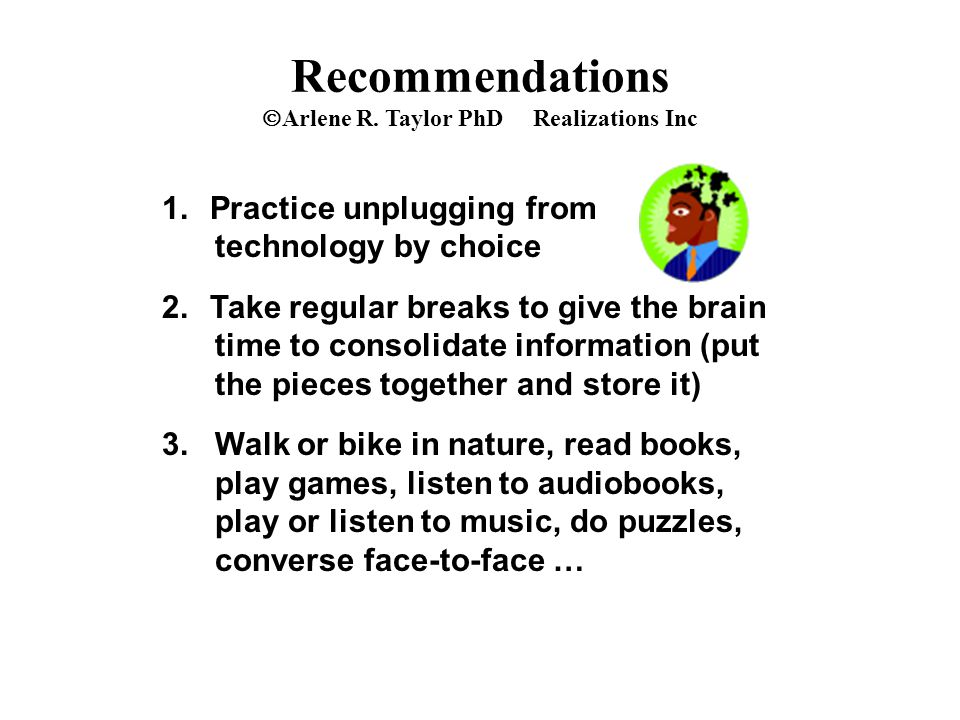 Recommendations  Arlene R.