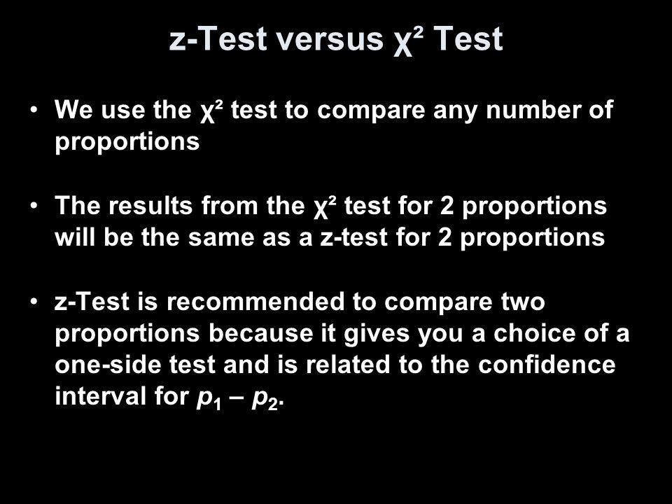 χ² Test of Association/Independence This test assesses whether this observed association is statistically significant.
