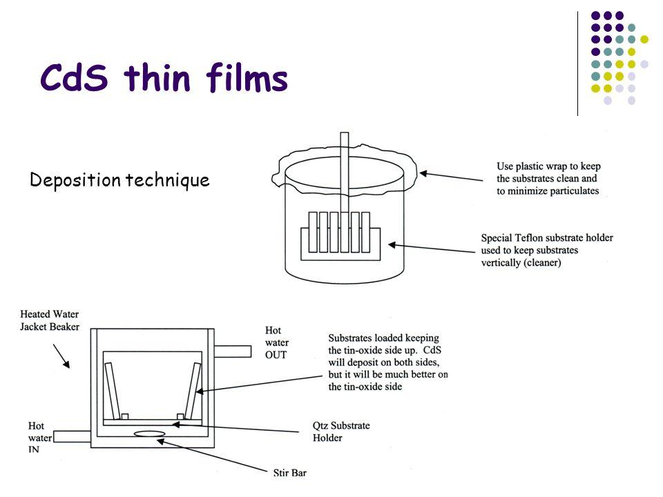 CdS thin films Deposition technique