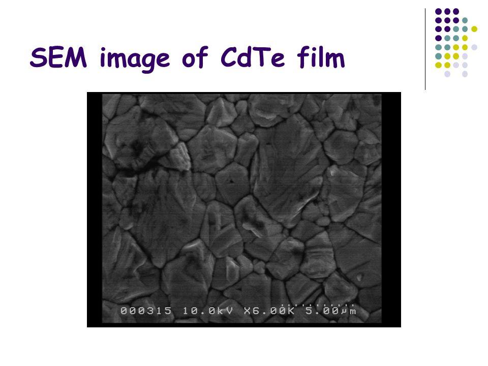 SEM image of CdTe film