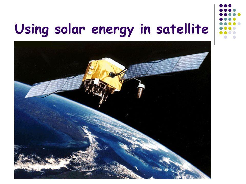 Using solar energy in satellite