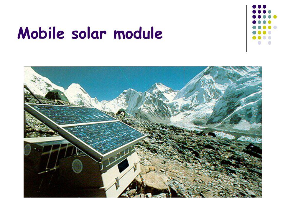Mobile solar module