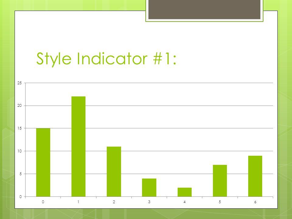 Style Indicator #1: