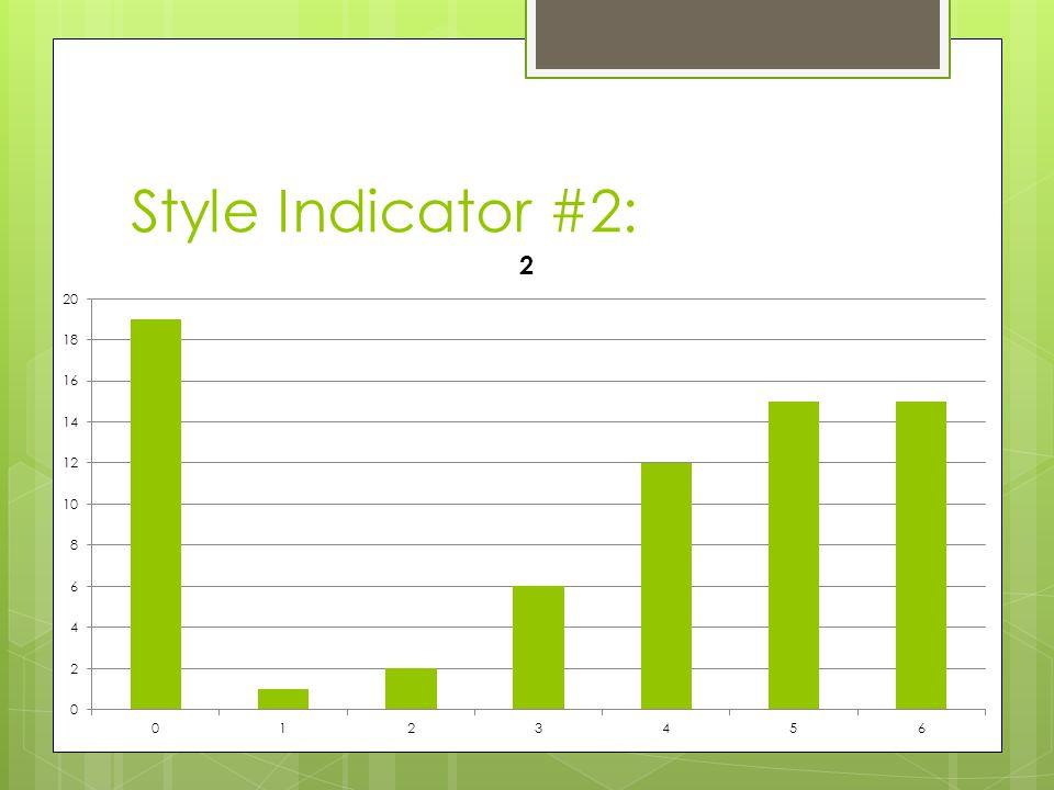 Style Indicator #2: