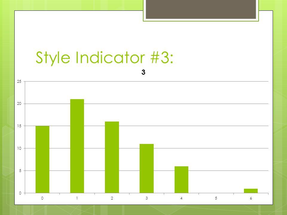 Style Indicator #3: