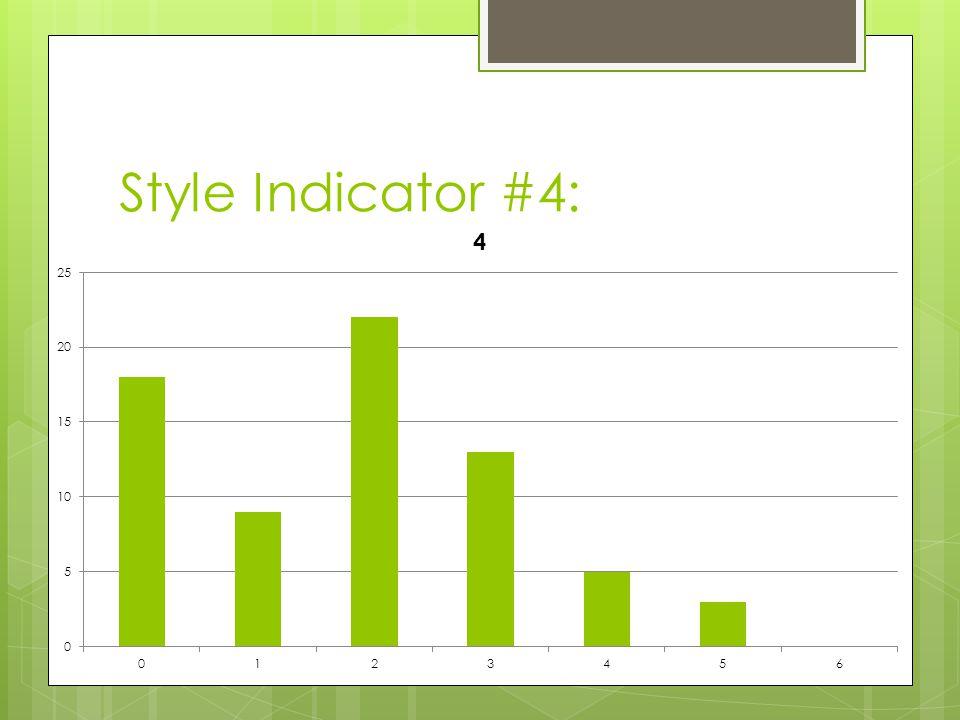 Style Indicator #4: