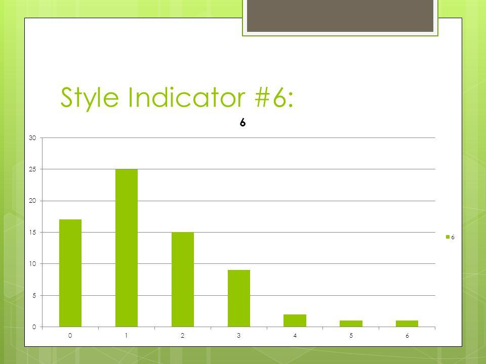 Style Indicator #6: