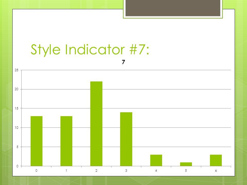 Style Indicator #7: