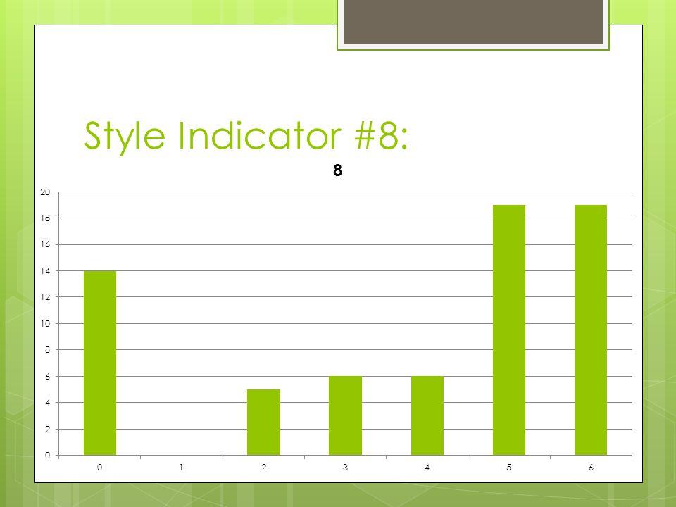 Style Indicator #8: