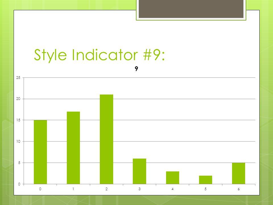 Style Indicator #9: