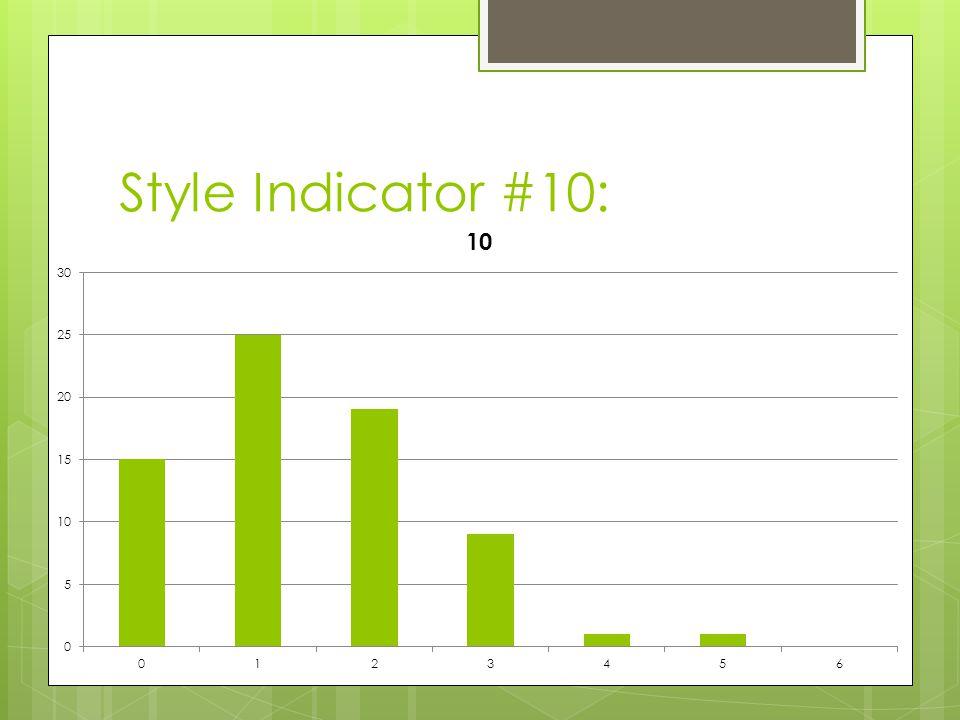 Style Indicator #10: