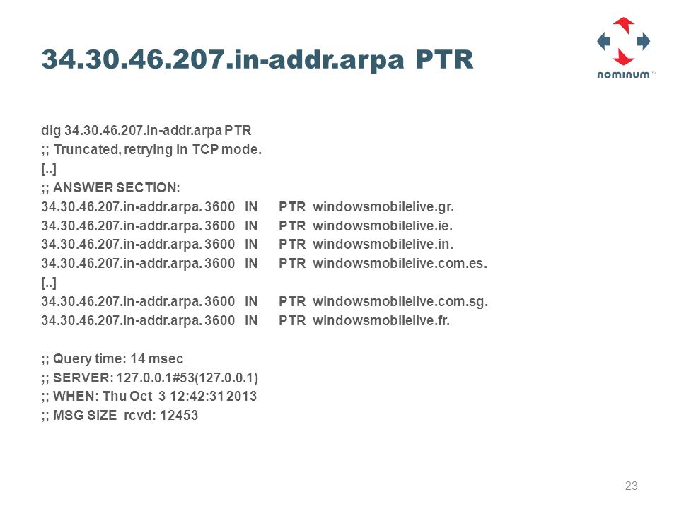 34.30.46.207.in-addr.arpa PTR dig 34.30.46.207.in-addr.arpa PTR ;; Truncated, retrying in TCP mode.