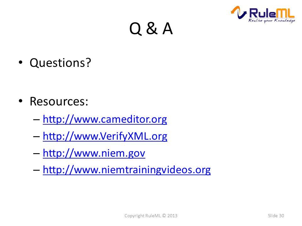 Q & A Questions.