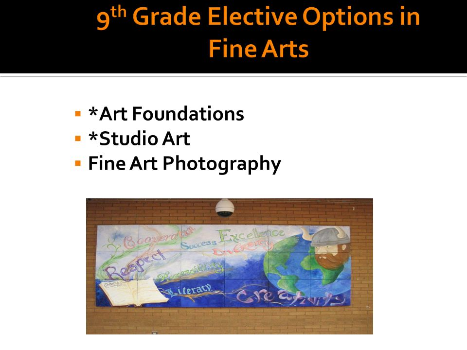  *Art Foundations  *Studio Art  Fine Art Photography