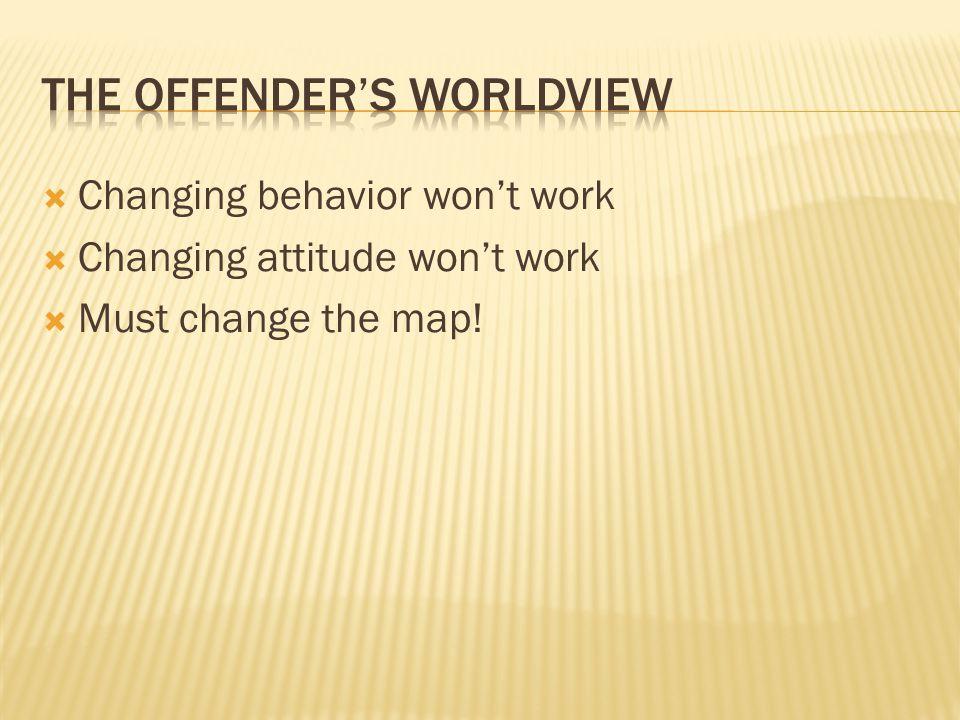  Changing behavior won't work  Changing attitude won't work  Must change the map!