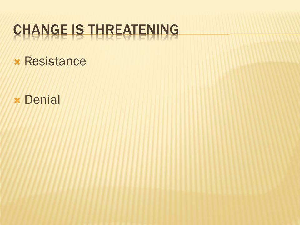  Resistance  Denial