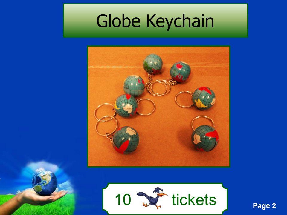 Page 2 10 tickets Globe Keychain
