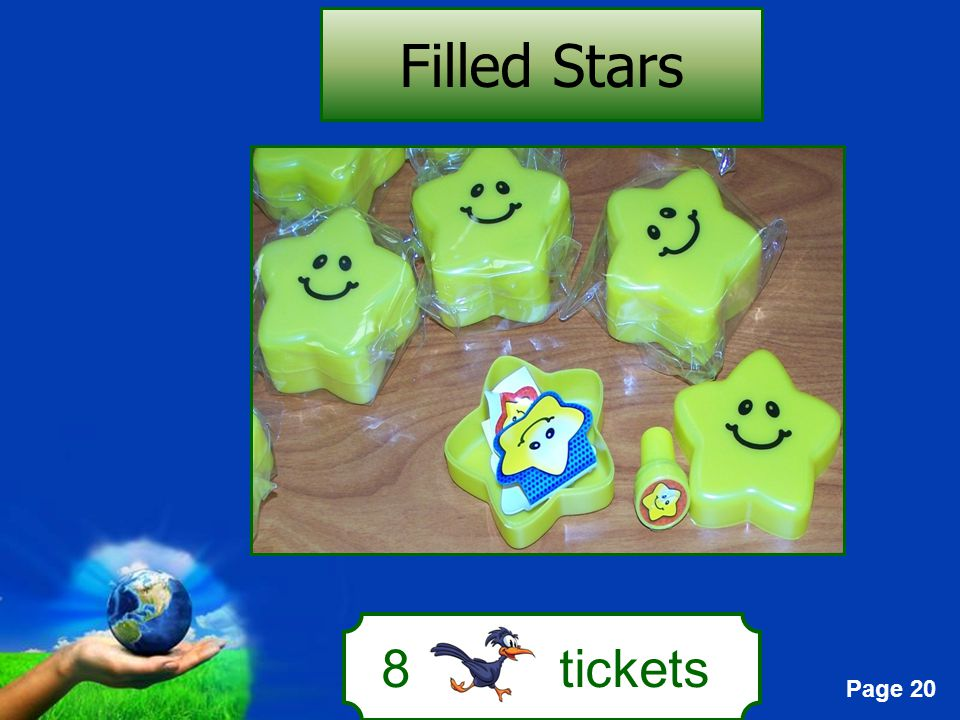 Page 20 8 tickets Filled Stars
