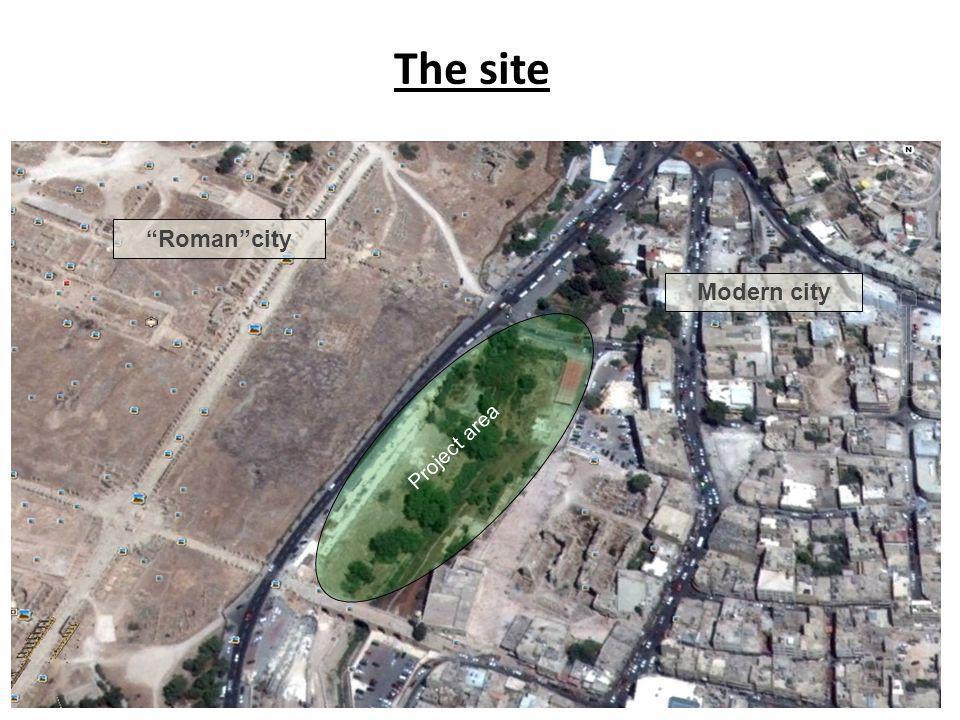 The site Project area Roman city Modern city