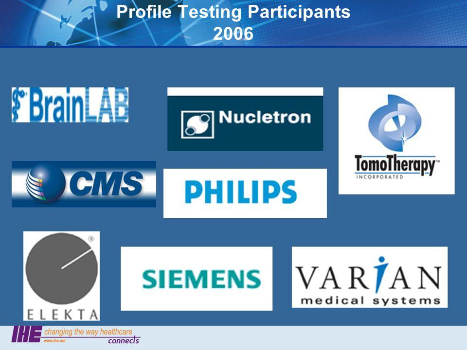 Profile Testing Participants 2006