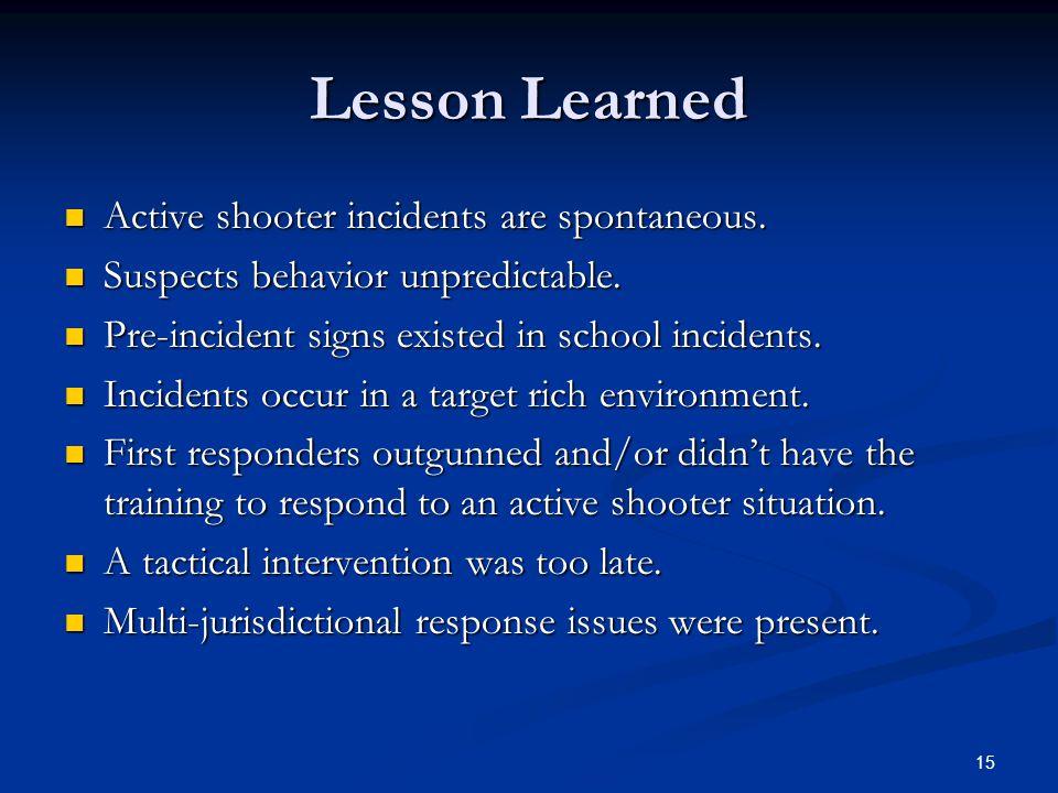 14 Columbine High School Littleton CO April 20, 1999 April 20, 1999 Littleton CO Littleton CO Suspects Harris and Klebold Suspects Harris and Klebold