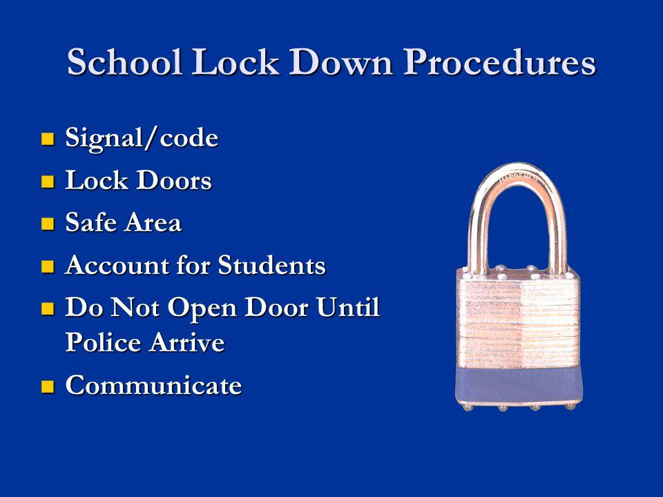 24 Lockdown or Evacuate?