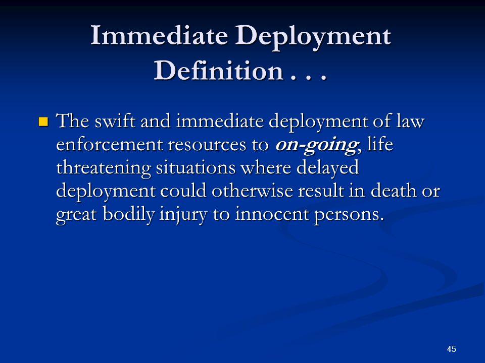 44 Immediate Deployment Tactics Patrol or SWAT Contact-Rescue Team Concept