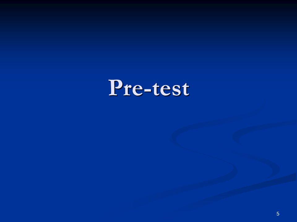 5 Pre-test