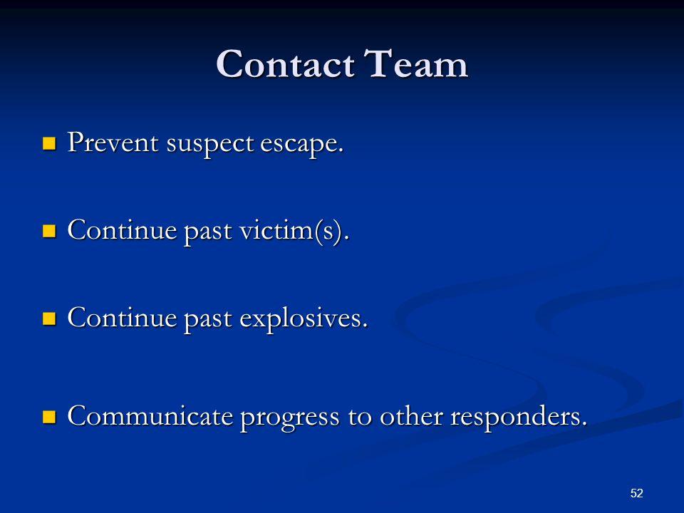 51 Contact Team Movement Four Person Diamond Formation Four Person Diamond Formation