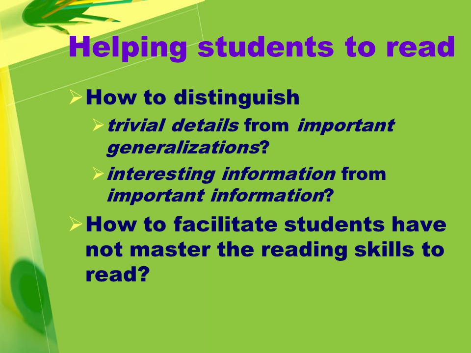 Student 1:  I read through a section quickly.