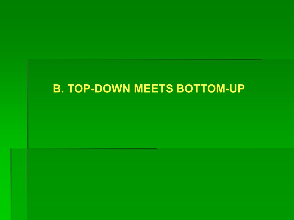 B. TOP-DOWN MEETS BOTTOM-UP