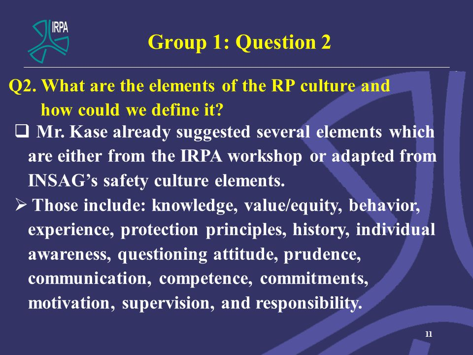 Group 1: Question 2 11  Mr.