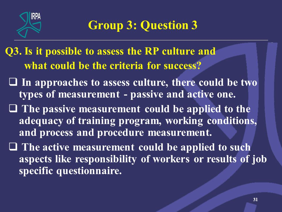 Group 3: Question 3 Q3.