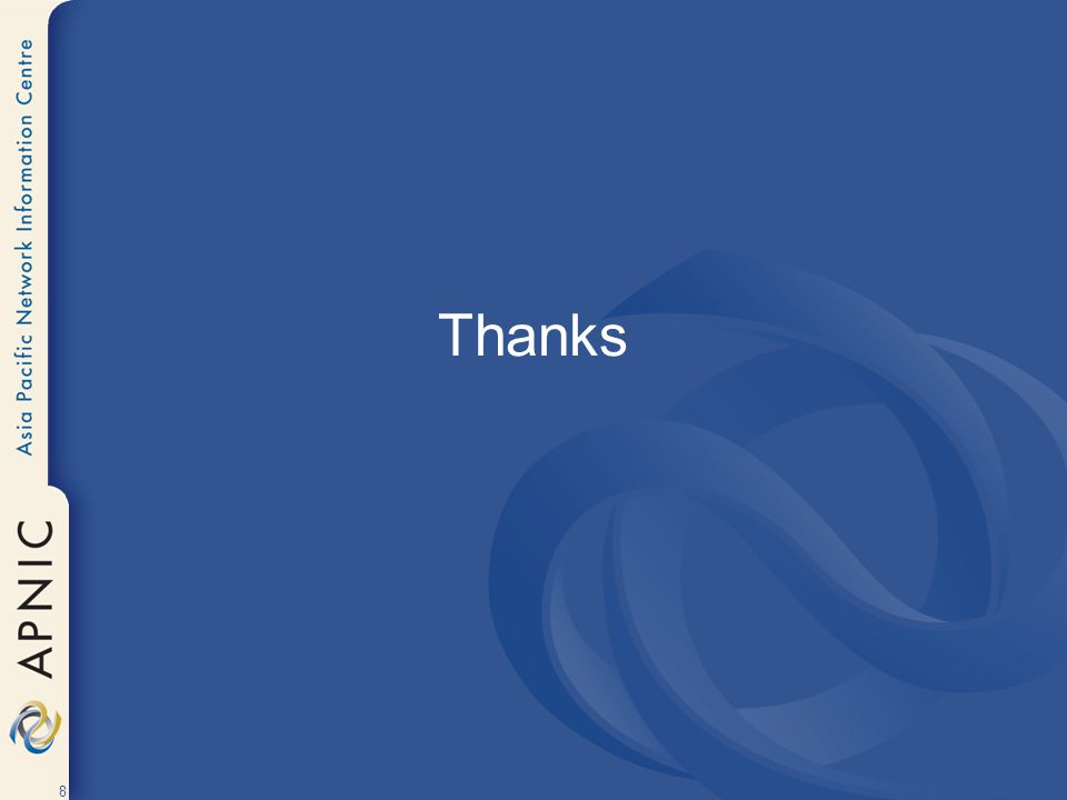 8 Thanks