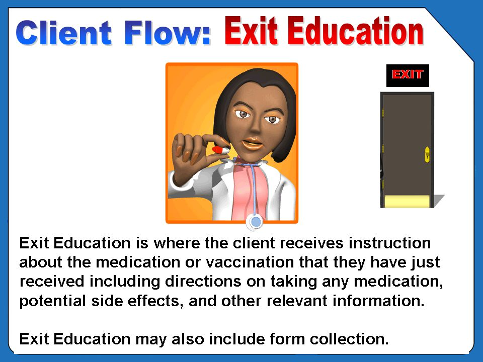 OVERVIEW - POD Clinic Flow – Exit Education EXIT
