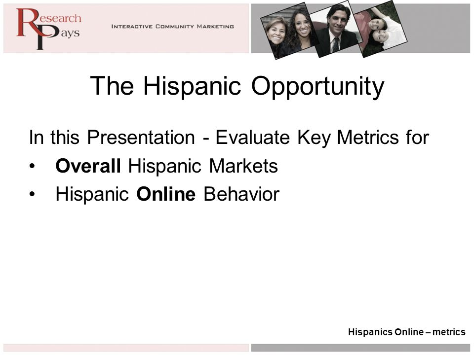 % Online – Household Income Hispanics Online – trends i.e.