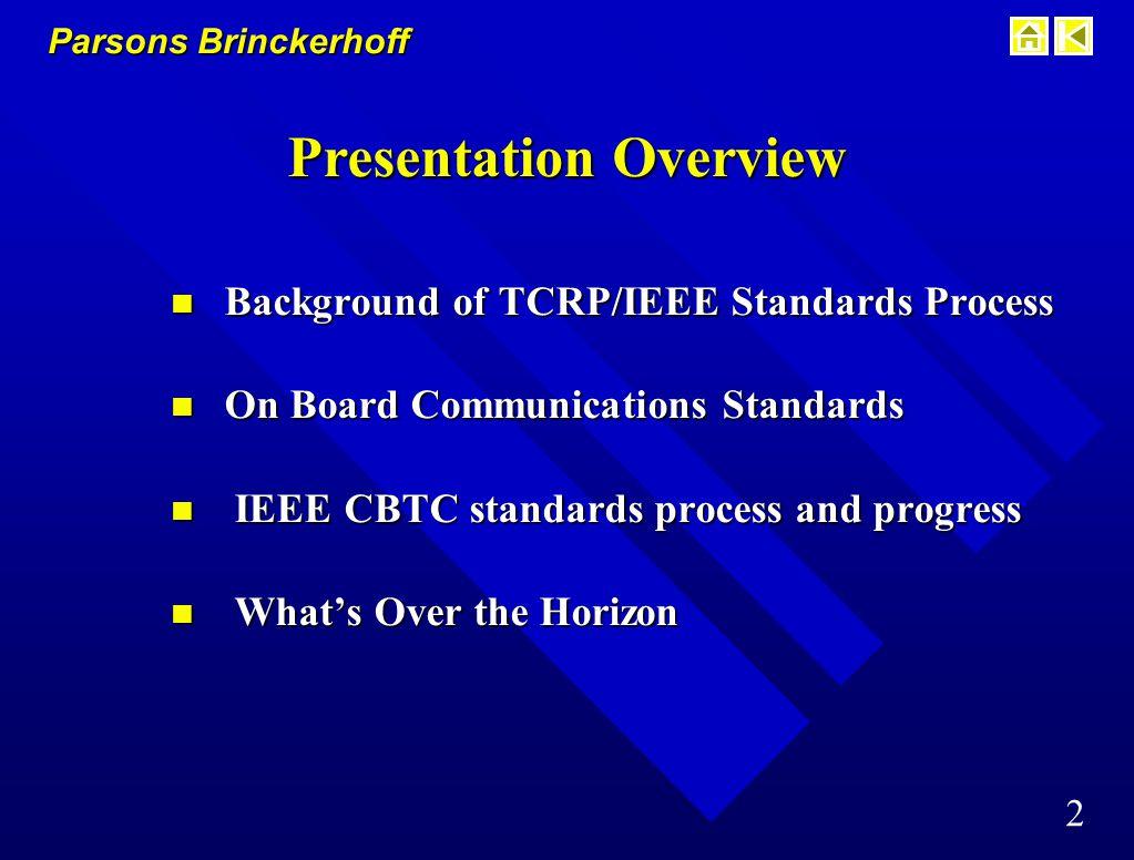 Parsons Brinckerhoff 12 Train Communication Network