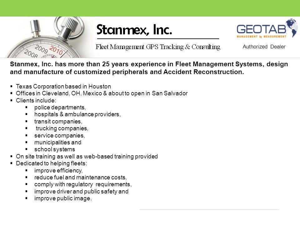 SafetyFuelMilesMaintainTimeGreen GEOTAB Measures to Manage