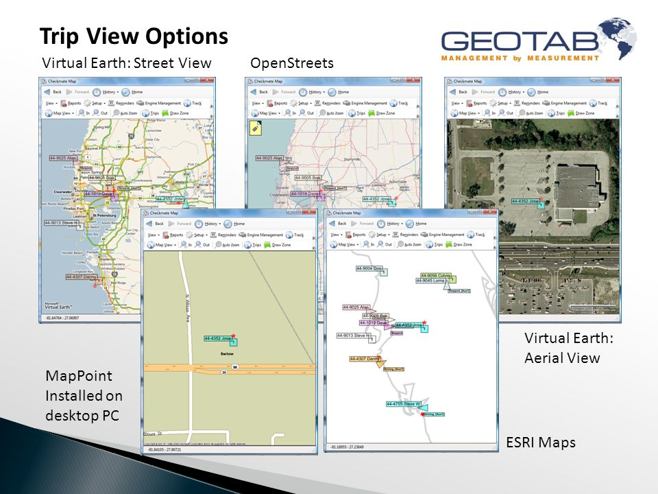 Driver Interaction Geotab's platform allows you to choose what vehicles and what driver interactive sound alerts will be activated.