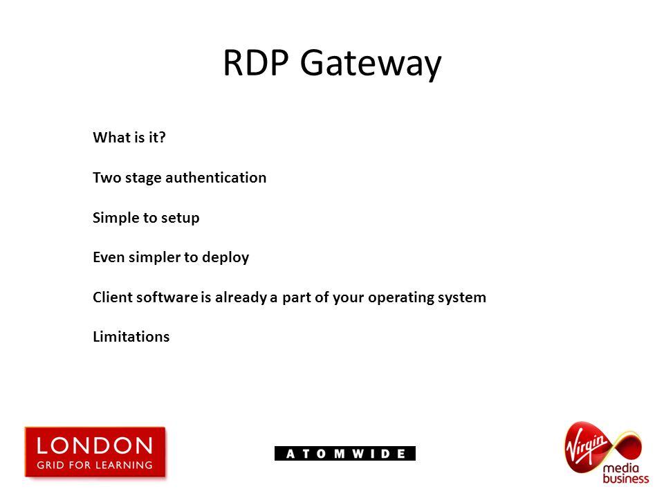 RDP Gateway What is it.