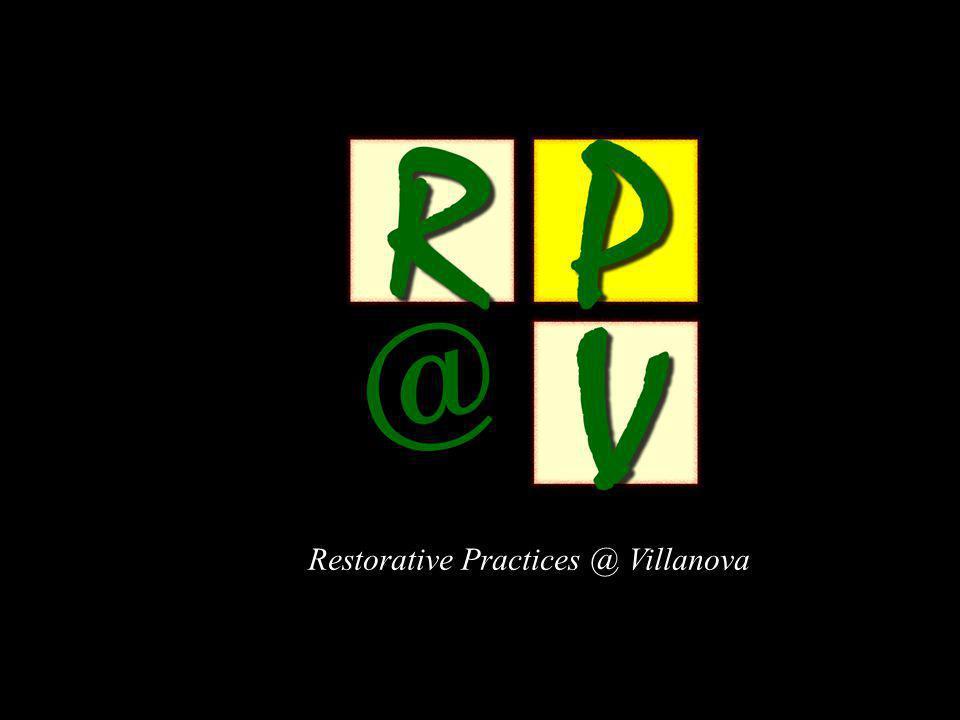 Restorative Practices @ Villanova