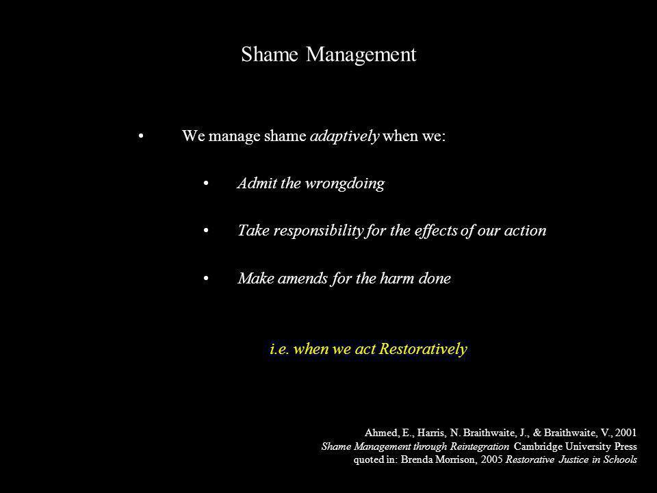 Shame Management Ahmed, E., Harris, N.