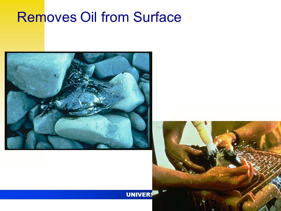 UNIVERSITY OF ALASKA FAIRBANKS 12 Removes Oil from Surface 12