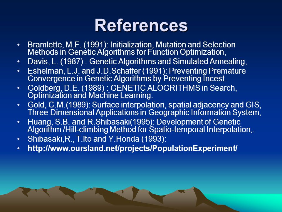References Bramlette, M.F.