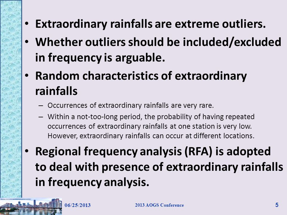 Previous studies have suggested that RFA performs better than the site-specific frequency analysis.