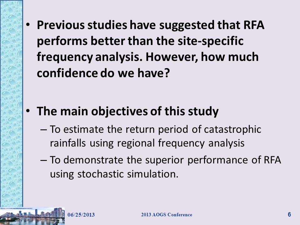 Conclusions Regional frequency analysis using (X-  )/  as the index variable is recommended to deal with extraordinary rainfalls (extreme outliers).