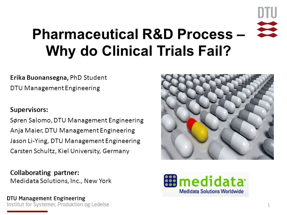 Clinical trial research –Interdependencies –Ranking according to phases –In-depth case studies Late development stages in other industries 12 FUTURE RESEARCH